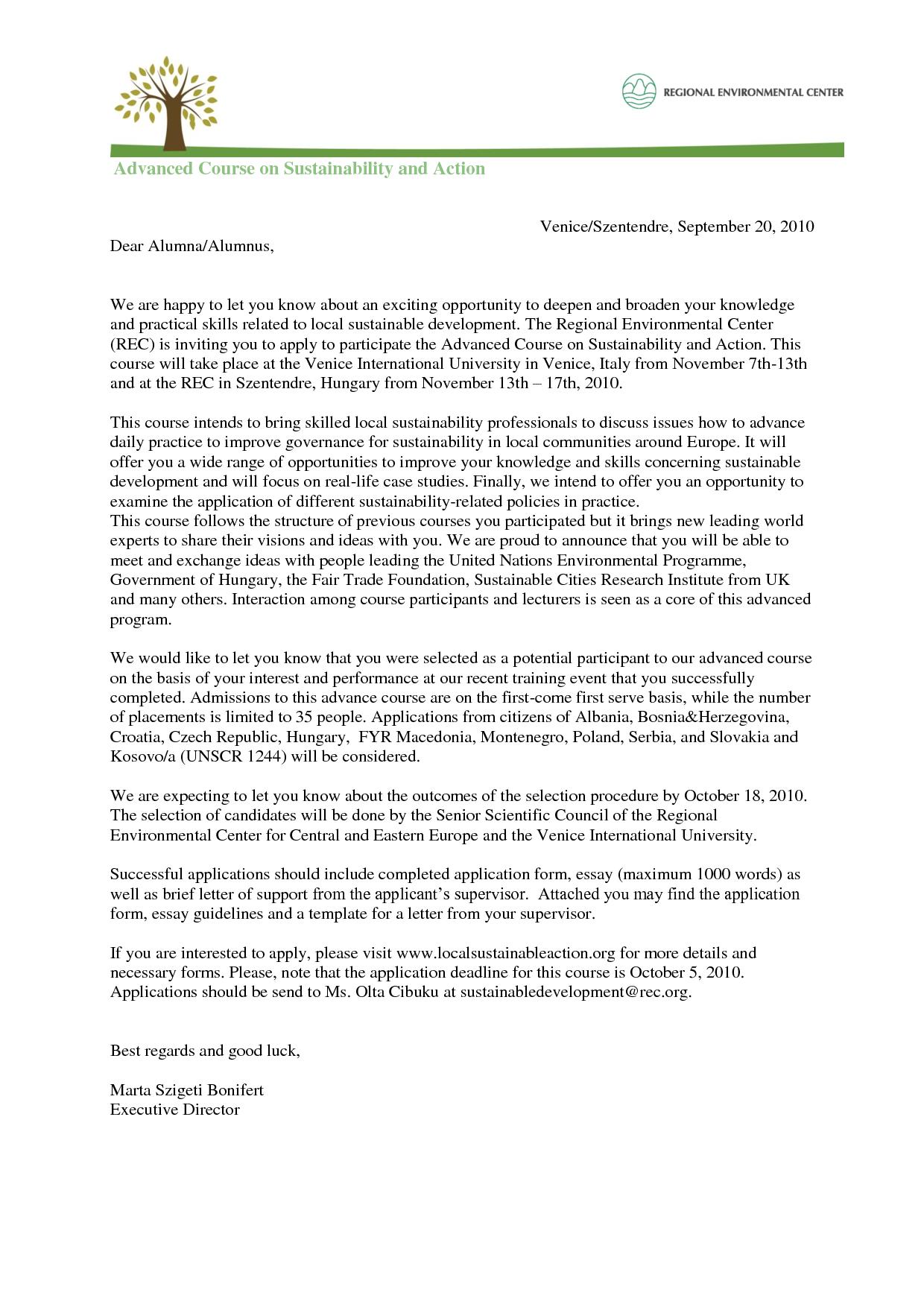 Invitation To Sunday School Letter
