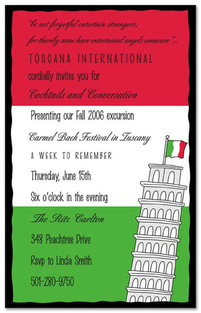 italian party invitation templates