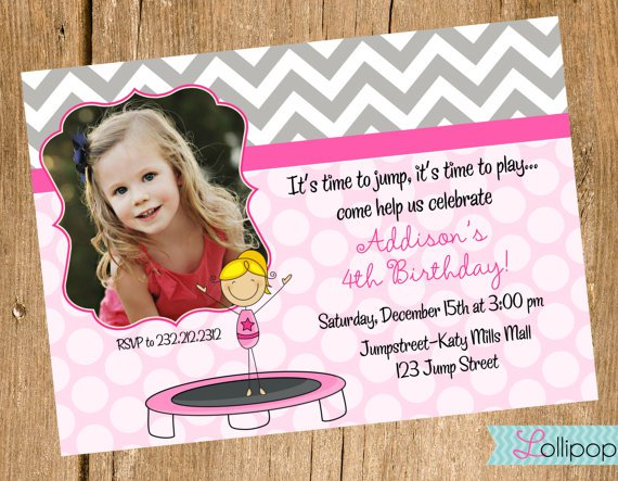 Jumping Party Invitations Printable
