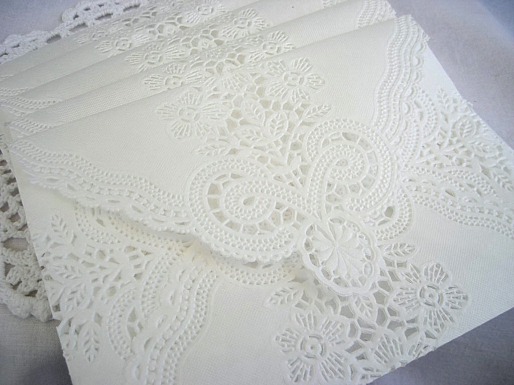 Lace Envelopes For Wedding Invitations