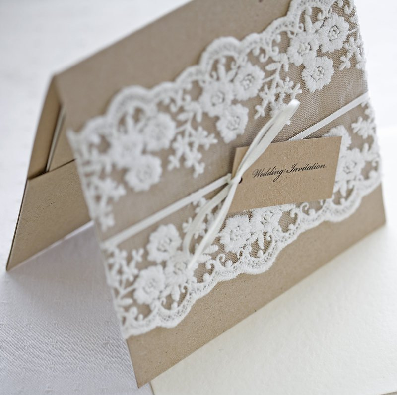 Lace Wedding Invitations Etsy