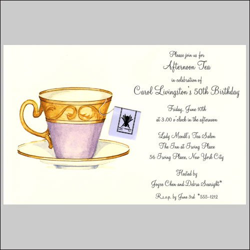 Tea Party Invitation Wording – Ladies Tea Party Invitations