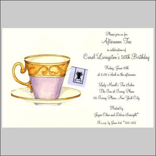 Ladies Tea Party Invitation Wording