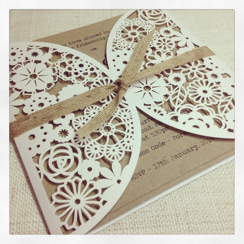 Laser-cut Wedding Invitations Lace