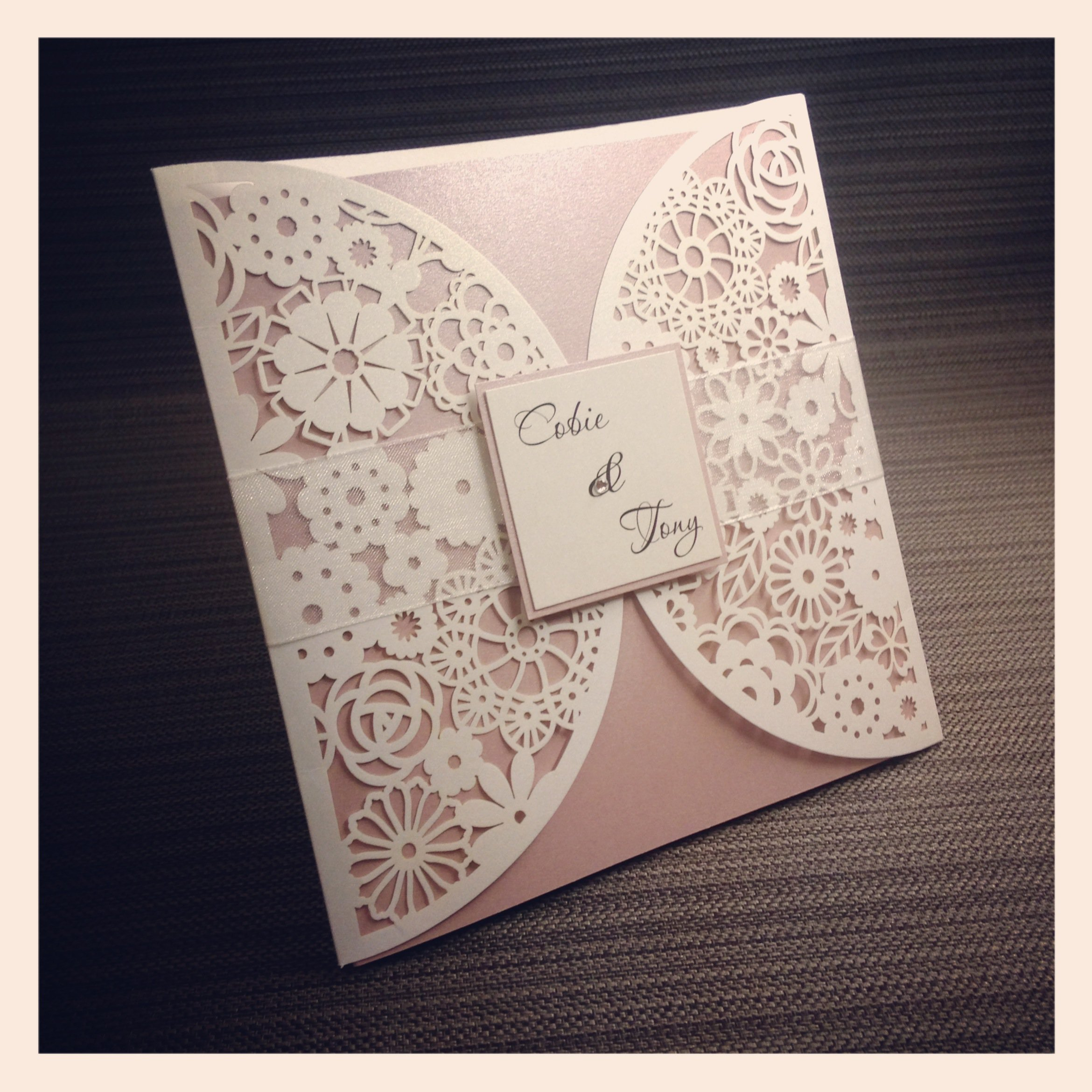 Laser Cut Paper Invitations