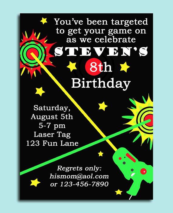 Laser Tag Birthday Invitations Printable