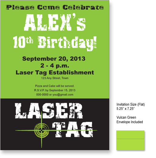 Laser Tag Party Invitations Ideas – Laser Tag Party Invitations
