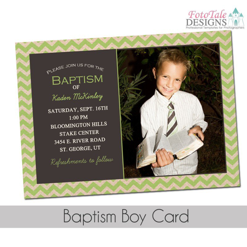 Lds Baptism Announcement Template