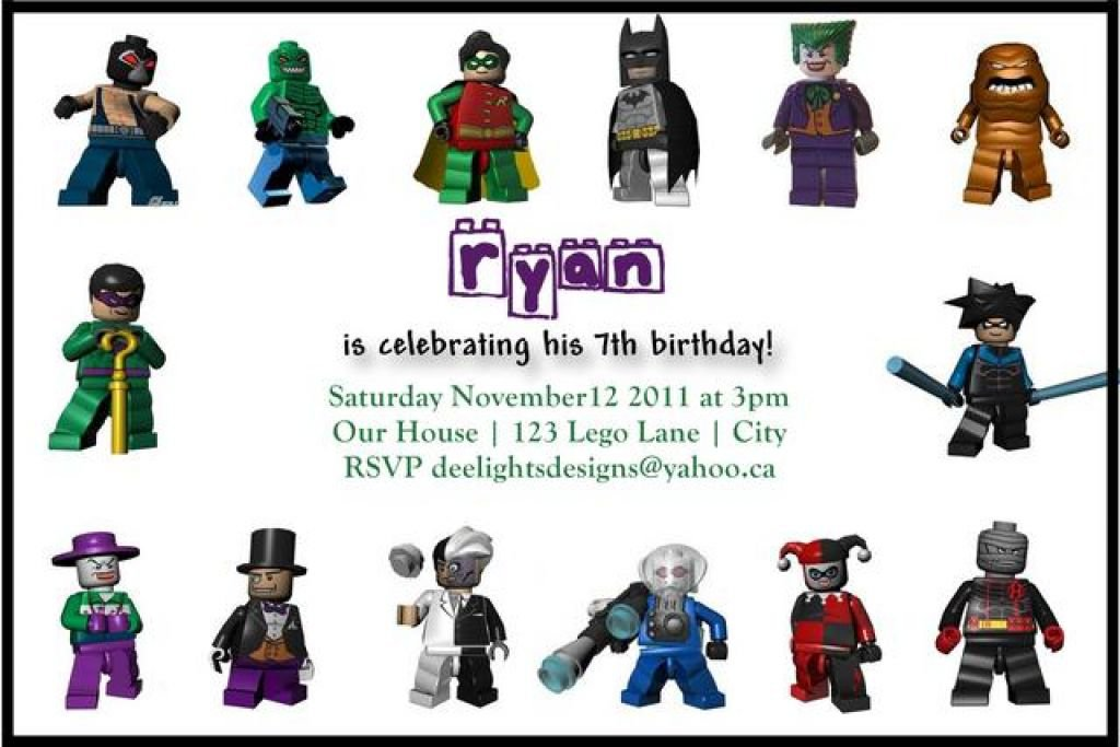 Lego Batman Invitation Template