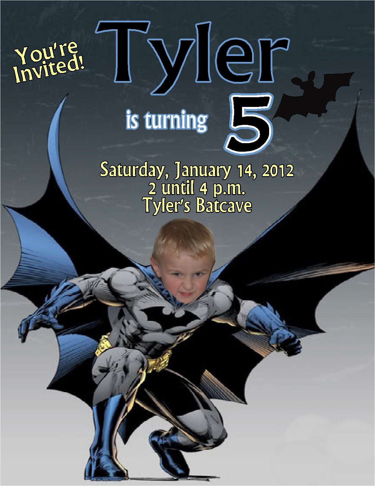lego batman invitations