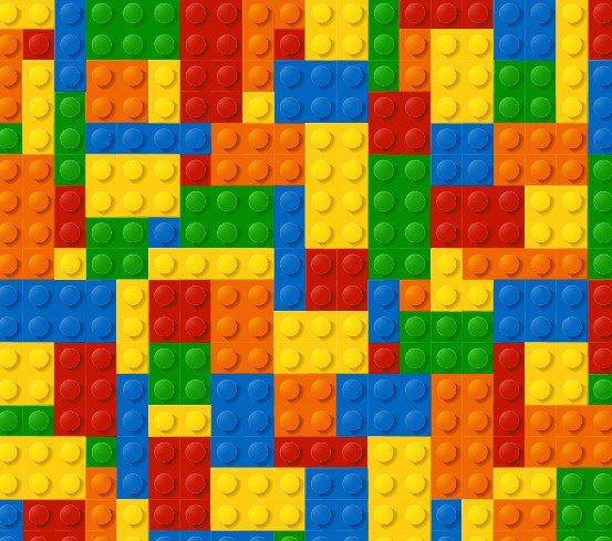 Lego Blocks Borders For Paper