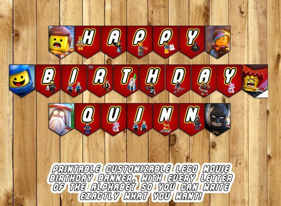 Lego Birthday Banner Printable
