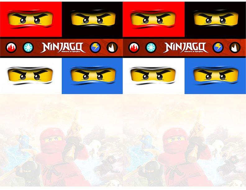 Lego Ninja Invitations