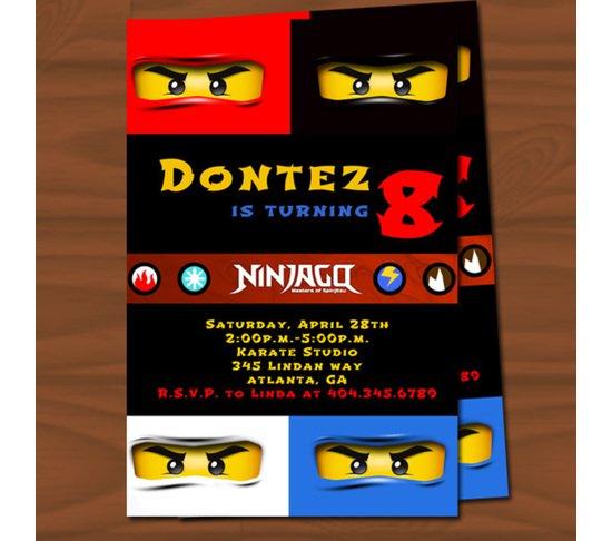 Lego Ninjago Printable Birthday Invitations