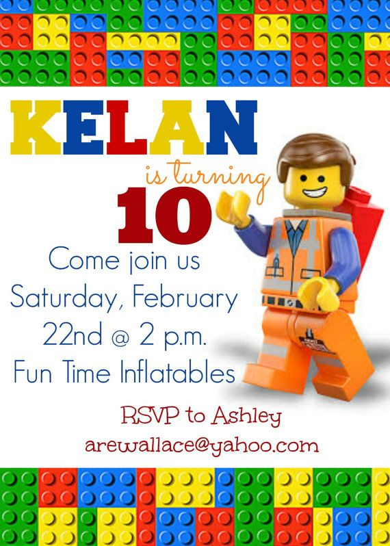 Lego Party Invitation Templates