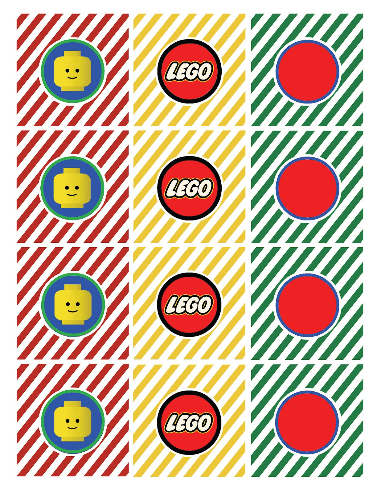 Lego Printable Birthday Cards