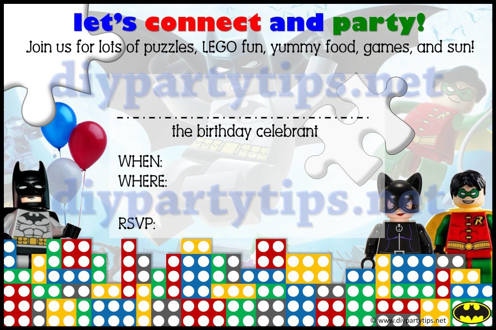 Lego Printable Invitation Templates