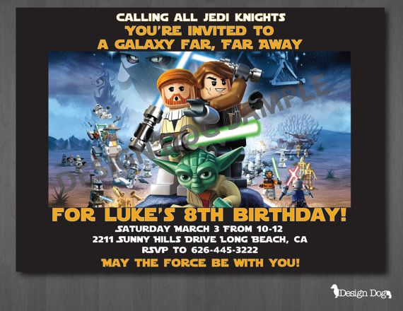 Lego Star Wars Birthday Invitation Templates