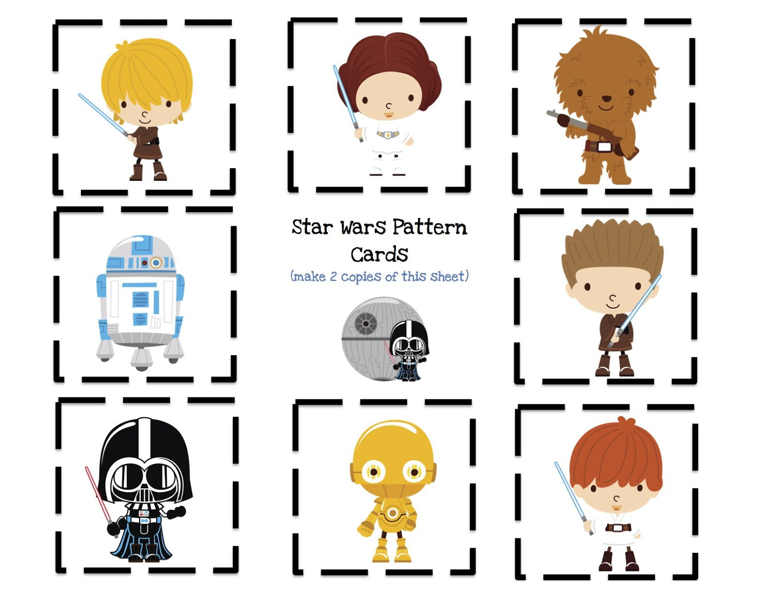 Lego Star Wars Printable Birthday Cards