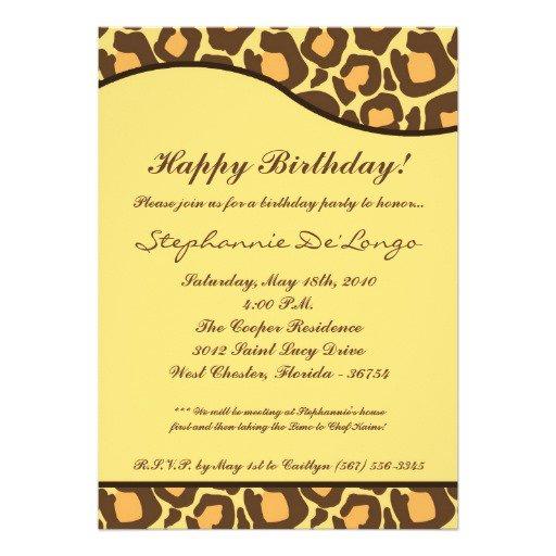 Leopard Print Invitation Paper