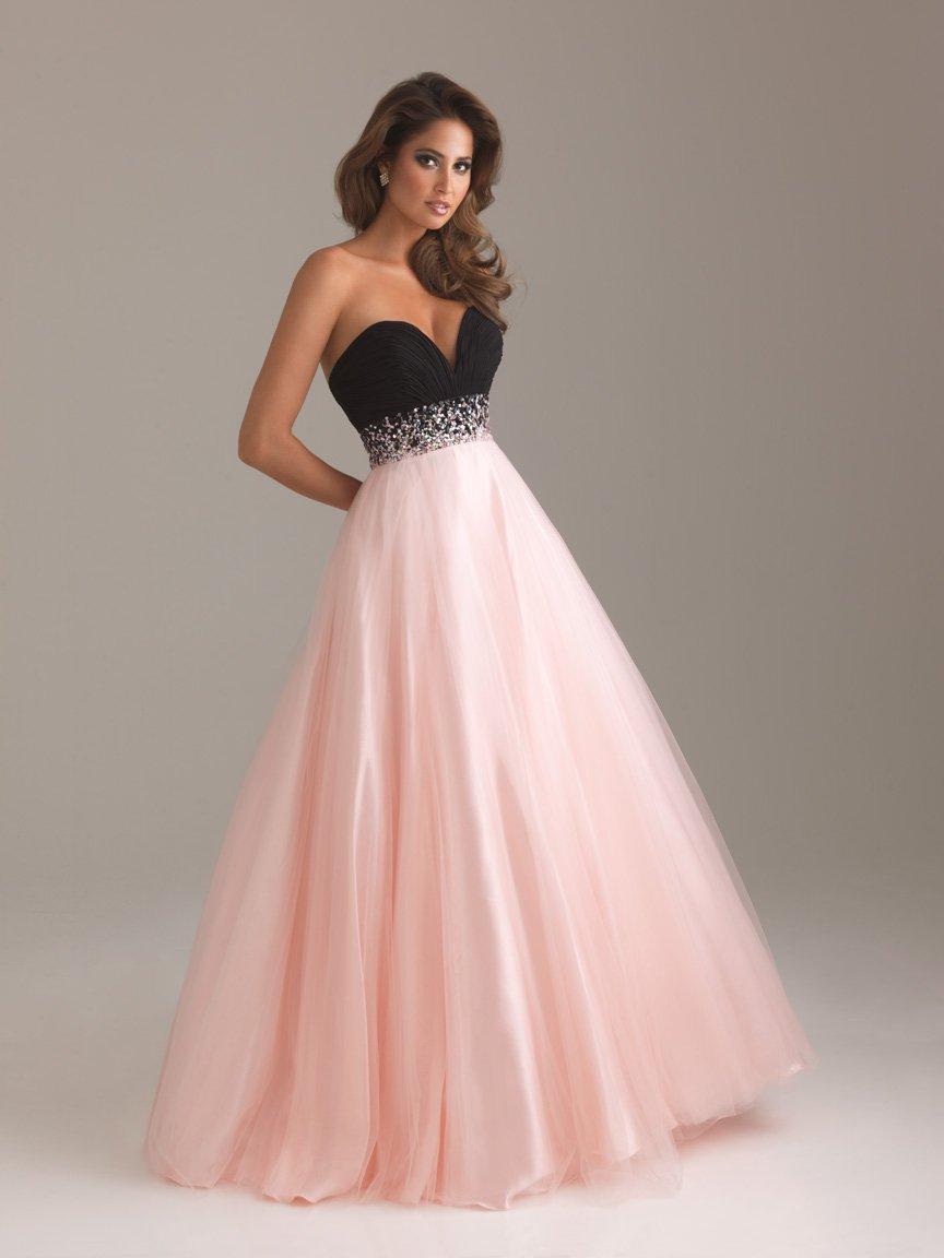 Light Pink And Black Wedding