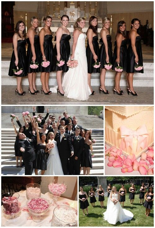Light Pink And Black Wedding Theme