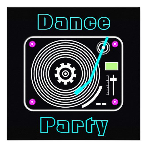 Line Dance Party Invitations