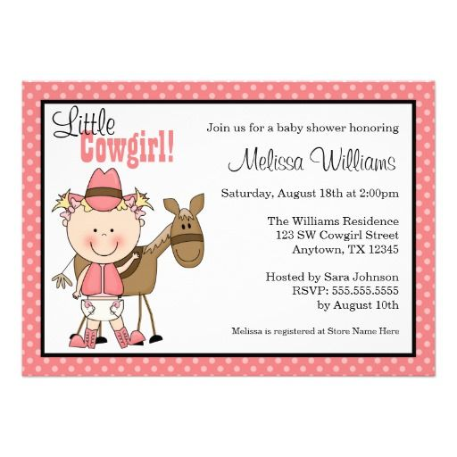 Little Cowgirl Invitations