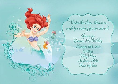 Little Mermaid Birthday Invitation Ideas SaveEnlarge