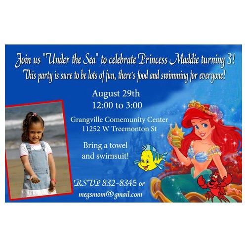 Little Mermaid Birthday Party Invitation Ideas