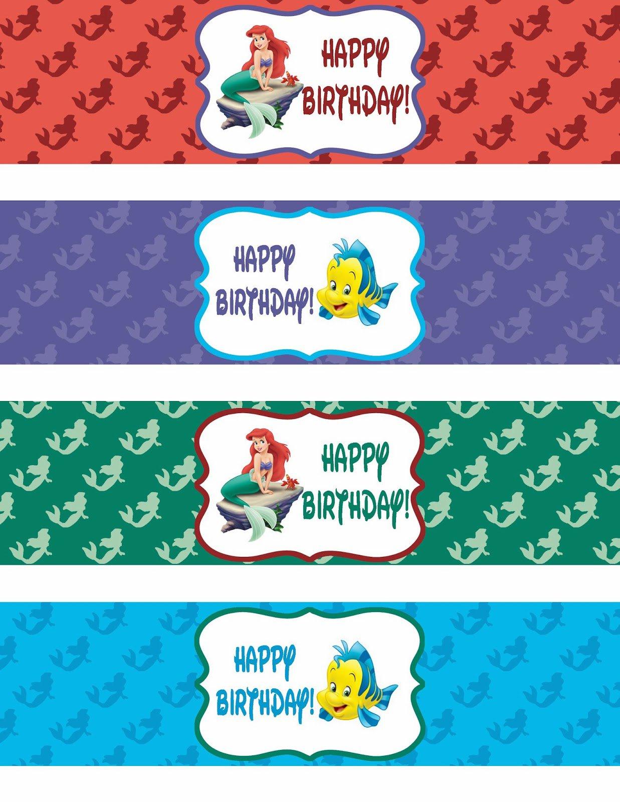Little Mermaid Free Printable Labels