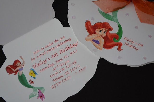 Little Mermaid Invitations Ideas
