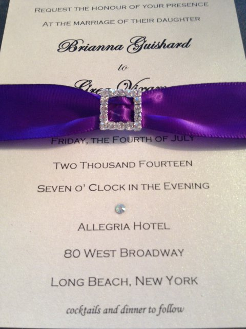 Long Elegant Wedding Invitations