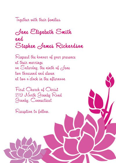 Lotus Flower Wedding Invitations
