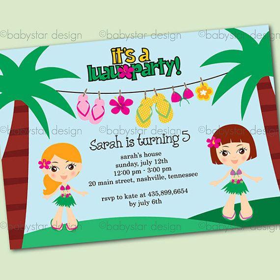 Luau invitation templates for Luau invitations templates free