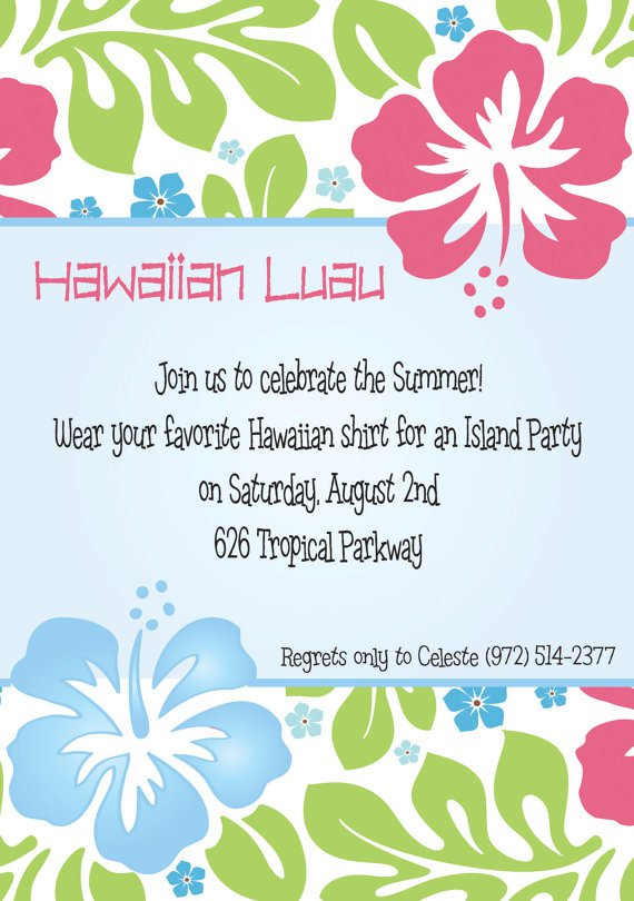 Invitation wording luau invitation wording stopboris Gallery