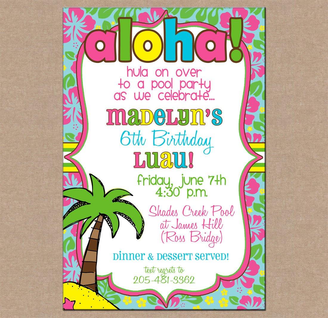 Luau Party Invitation Blank