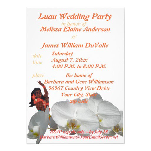 Luau Wedding Invitations