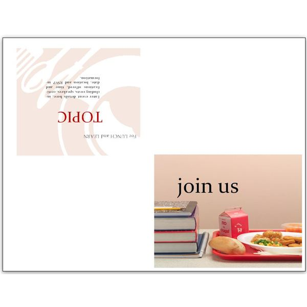 Lunch Invitation Flyer Template