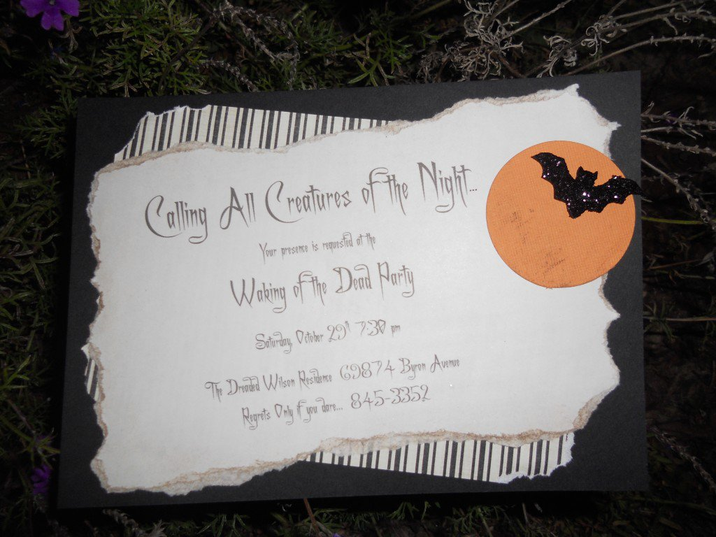 Make Your Own Halloween Costume Party Invitations