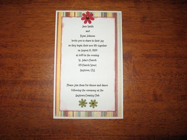 Make Your Own Wedding Invitations Cardstock