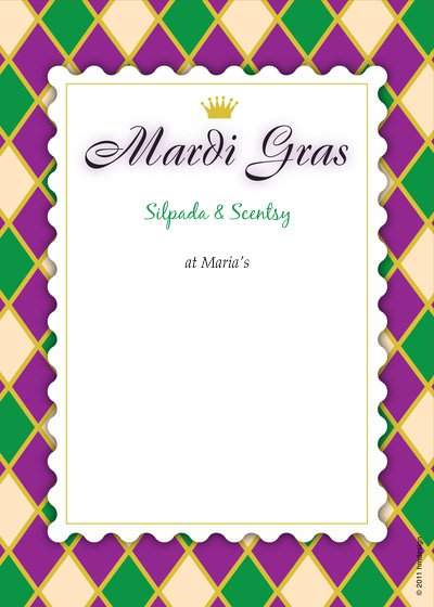 Mardi Gras Blank Invitations Templates