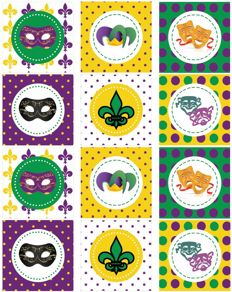 Mardi Gras Printable Decorations