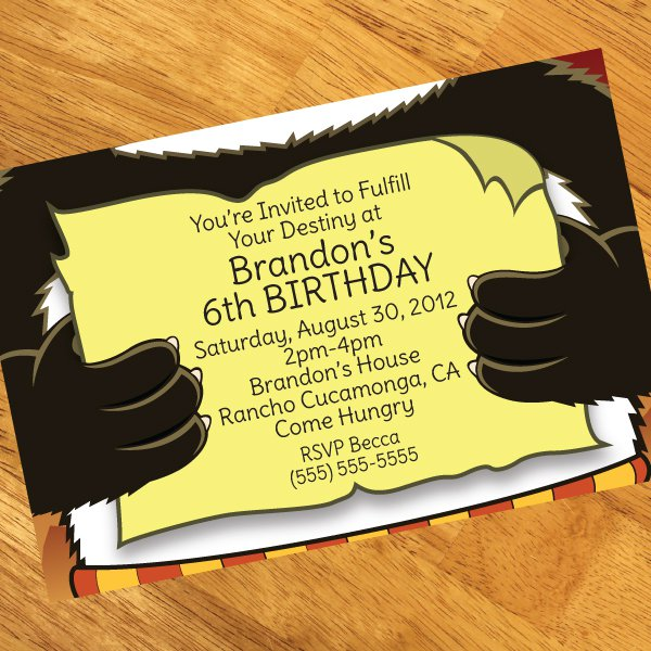 Martial Arts Birthday Invitations Free