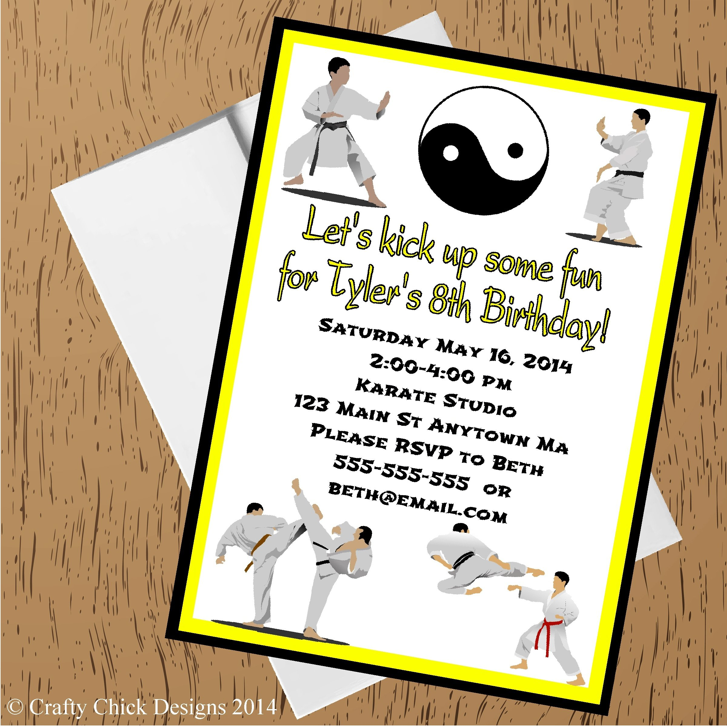 Martial Arts Birthday Party Invitations