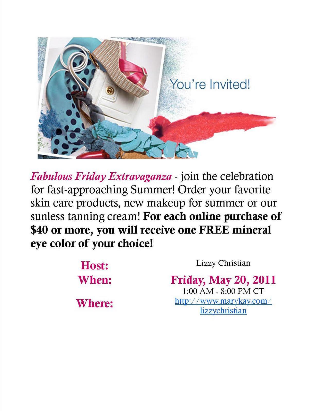Mary Kay Facial Invitations