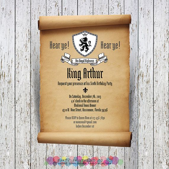 Medieval Announcement Wording Amazing Invitation Template Design