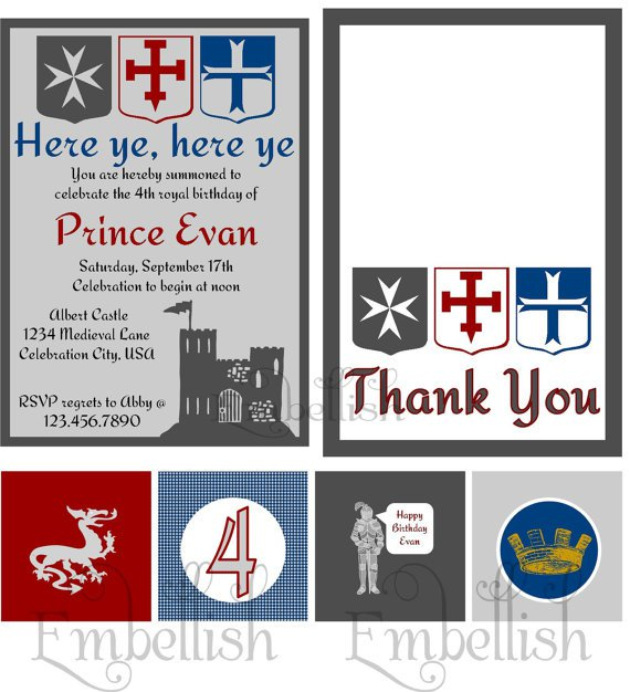 Medieval Party Invitations Free Printables