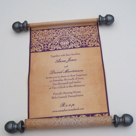 Medieval Scroll Wedding Invitations
