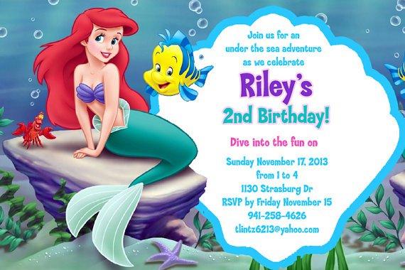 Mermaid Invitations Free Printable